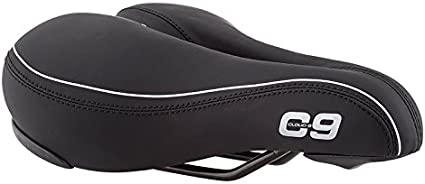 Tri-color Comfort Select Sunlite Cloud-9 Bicycle Non-Suspension Comfort Saddle