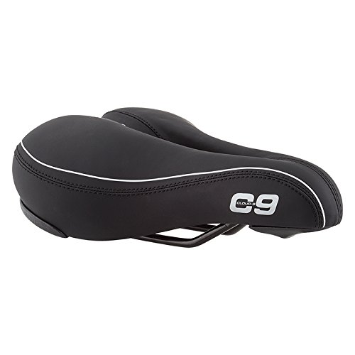 Sunlite Cloud-9 Bicycle Non-Suspension Comfort Saddle, Comfort Select, Tri-color by Cloud-9