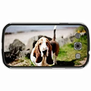 New Style Customized Back Cover Case For Samsung Galaxy S3 Hardshell Case, Black Back Cover Design Basset Hound Personalized Unique Case For Samsung S3