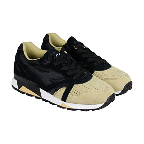 diadora-n9000-double-mens-black-tan-suede-synthetic-sneakers-shoes-9