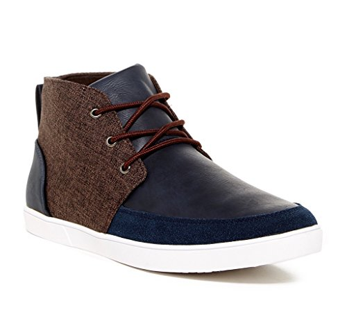 Giraldi Martin-G Mens Fashion Contrast Chukka Sneakers, Blue/Brown, Size 10.5, US