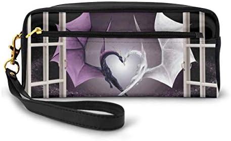 長財布 ポーチ 3D 窓 ファンタジードラゴン レザーバッグ 化粧バッグ おしゃれ かわいい 小型バッグ ペンケース クラッチポーチ メイクポーチ
