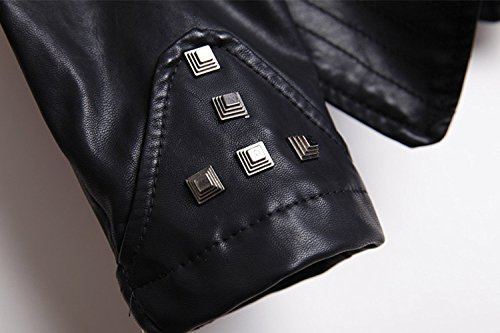 YYZYY mat pour Punk Blousons Zipper 2 Artificiel Femme Cuir Ultra Denim Motard MDK par Doux 1A1wFZrx