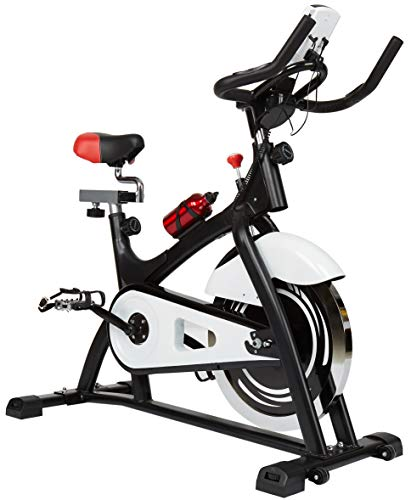 BalanceFrom GoRide Belt Drive Indoor Exercise Cycling Bike with 40LB Flywheel, 300-Pound Capacity