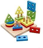 DalosDream Wooden shape sorter Educational Preschool Toddler Toys for 1 2 3 45 Year Old Boys Girls Gifts Shape Color…