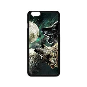 SANYISAN Wolf Moon Star Black iPhone plus 6 case