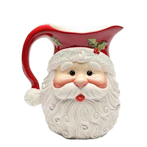I Believe: Holiday Santa Claus Shaped Design Pitcher Collectible (Santa Claus Pitcher)