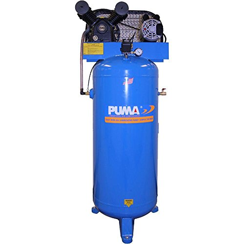 Puma Industries PK-6060V Air Compressor, Professional/Commercial Single Stage Belt Drive Series, 3 hp Running, 135 Maximum psi, 230/1V/Phase, 60 gal, 305 lb.