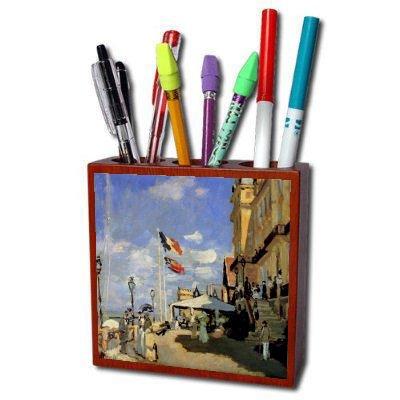 Hotel De Roches Noires A Trouville By Claude Monet Pencil Holder