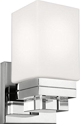 1 Crystal Sconce Light (Feiss VS20601PN Maddison Crystal Wall Vanity Bath Sconce Lighting, Chrome, 1-Light (5