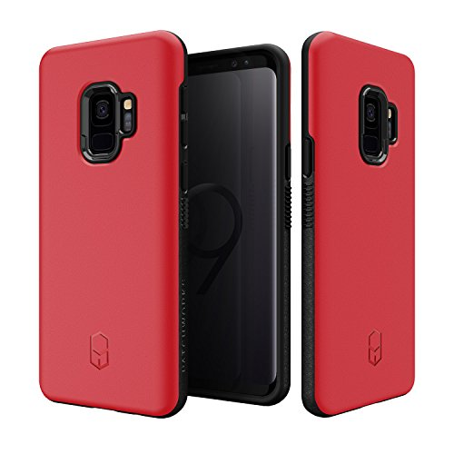 Samsung Galaxy S9 Case, Patchworks [Level ITG Series in Red] One Piece TPU PC Hybrid Dual Material Matte Finish Side Grip with Added Air Pocket and Drop Tested Hard Case for Galaxy S9