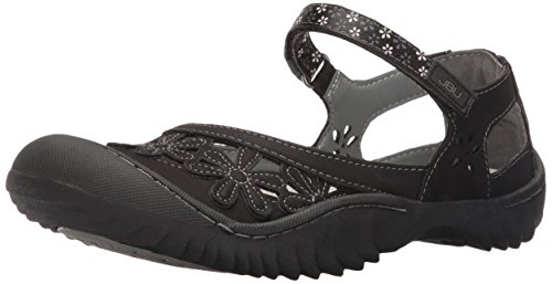 JBU by Jambu Women's Wildflower Too Mary Jane Flat, Black, 9 M US
