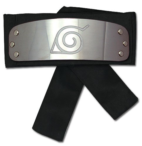 Great Eastern Naruto Shippuden GE-8676 Leaf Village Headband - Black (Naruto Shippuden Ultimate Ninja Storm 4 Mac)