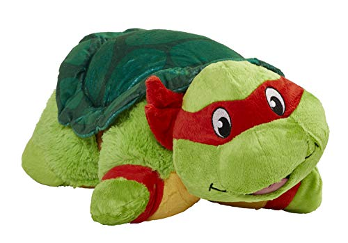 "41VhnWHeBHL - Pillow Pets Nickelodeon Teenage Mutant Ninja Turtles Stuffed Animal Plush Toy 16"", Raphael"