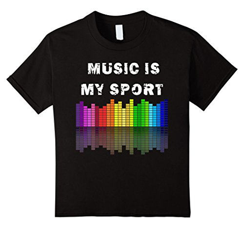 Kids Music Is My Sport Equalizer DJ T Shirts Musical Quotes Gift 12 Black