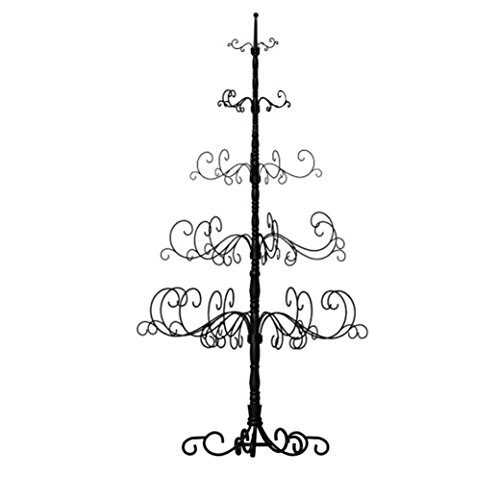 Patch Magic 7-Feet Christmas Tree, 41 by 41 by 84-Inch, Black - Iron Ornament