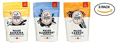 Paleo Baking Company - 3 Pack Variety - Paleo Banana Bread & Muffin Mix, Paleo Blueberry Muffin Mix, Paleo Carrot Cake & Muffin Mix