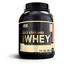 OPTIMUM NUTRITION Gold Standard Natural 100 Percent Whey Gluten Free, Strawberry, 2.18 Kilograms