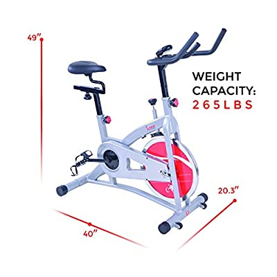 Sunny Health & Fitness SF-B1421B Belt Drive Indoor Cycling Bike