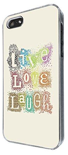 272 - Shabby Chic Floral Live Love Laugh Design iphone 4 4S Coque Fashion Trend Case Coque Protection Cover plastique et métal