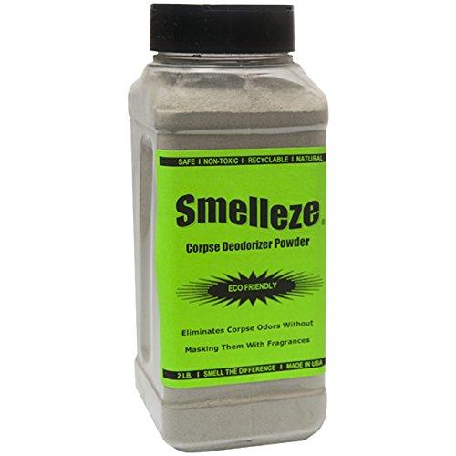 SMELLEZE Natural Corpse Odor Remover Deodorizer: 2 lb. Powder Removes Cadaver Odor