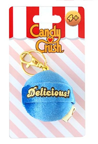 Candy Crush Sega Plush Keychain Clip - Blue Lollipop Head Delicious (Commonwealth Games Costumes)