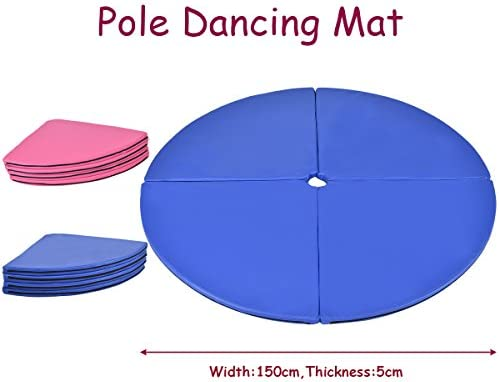 gymax Pole Dancing Mat fitness plegable casa Spinning ejercicio ...