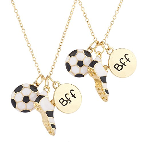 Lux Accessories Goldtone BFF Best Friends Soccer
