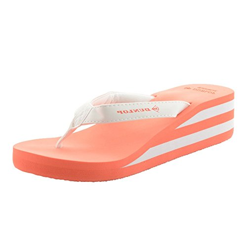 Orteil Plat Sandales Tongs Summer Rose Corail Cale Beach Décontracté Mesdames Chaussures Dunlop Post 0wExqpwX