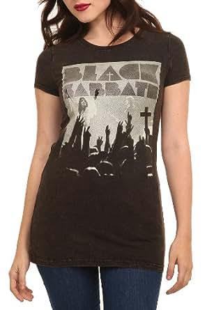 Black Sabbath Crowd Mineral Wash Girls T-Shirt Size : X-Small