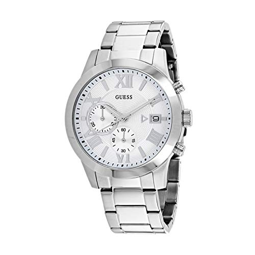 - Guess Classic Chronograph Silver Dial Men's Watch W0668G7