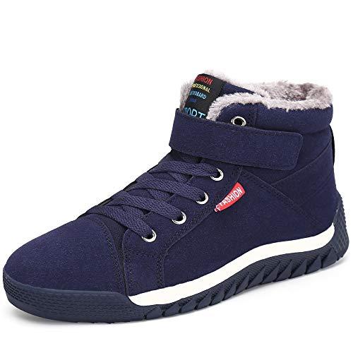 Pastaza Herren Winterschuhe Gefütterte Warme Outdoor Sport Sneaker mit Klettverschluss Gr. 38-48 Blau