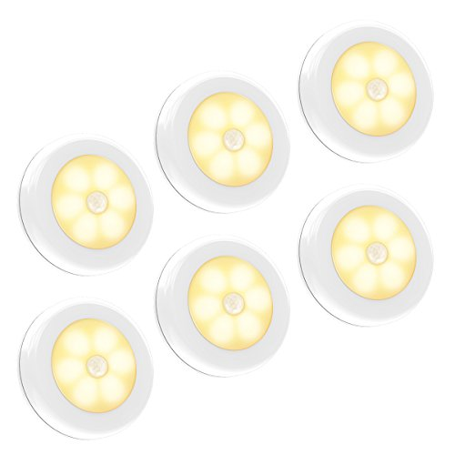 Motion Sensor Light, Iextreme Battery-Powered LED Night Light Step Lights Stair Closet Light Under-Cabinet Lighting Stick Anywhere Lamp Tap Light for Hallway, Cabinet, Closet, Stairs, Bathroom, 6PACK by Iextreme