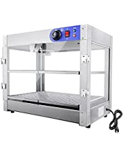 """PNR 2-Tier 110V Commercial Countertop Food Pizza Warmer 750W 24x15x20"""" Pastry Display Case"""