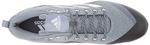 adidas Originals Men's Freak X Carbon Mid Baseball Shoe Onix, Silver Met., Light Grey