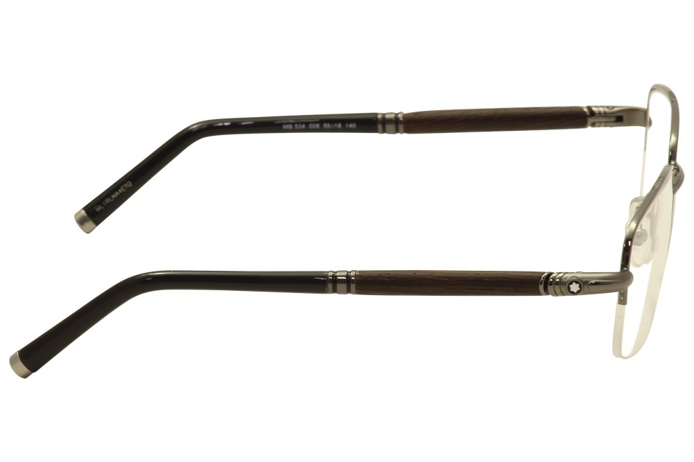 55-18-140 Mont Blanc Mens Designer Eyewear Sunglasses Shiny Palladium