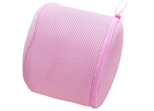 Durable Lingerie Hosiery旅行ストレージランドリーバッグプレミアムメッシュブラWash Bags by shopidea ピンク B078ZHKK4H ピンク