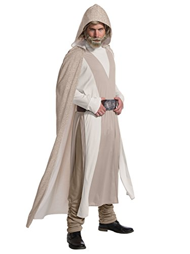 Rubie's Star Wars Episode VIII: The Last Jedi Men's Deluxe Luke Skywalker Costume Beige X-Large -