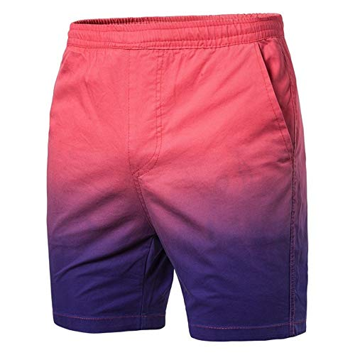 Mens Gradient Color Shorts,Donci Slim Summer Casual Elastic Strap Training Pants Pocket Fast Dry Jogger Water Sports Trunks
