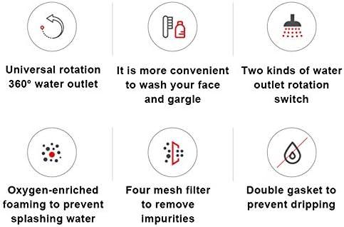 JHCHA Fregadero de cocina ajustable 720 /° Rotaci/ón grifo aireador fregadero universal cabeza giratoria molde filtro boquilla giratoria doble salida grifo cocina ba/ño ahorro agua grifo cabeza