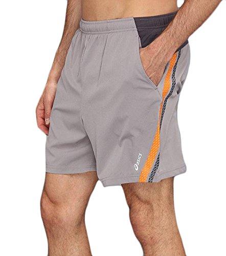 ASICS Men's Athletic 2 in 1 Shorts (XX-Large, Grey)