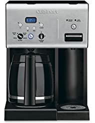 Cuisinart Coffee Plus 12-Cup Programmable Coffeemaker with Hot Water System, Black Stainless (Certif