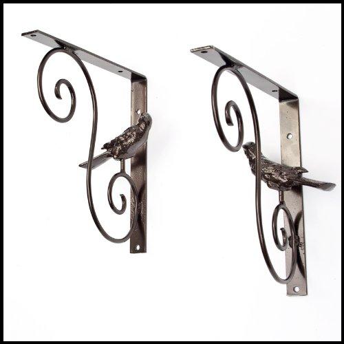 Bellevue Iron Bird Shelf Bracket Pair by Windowbox
