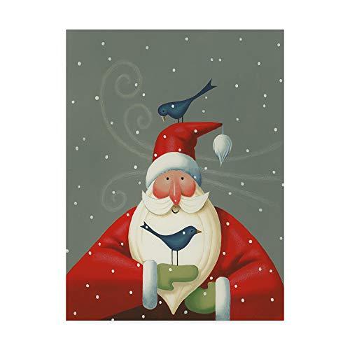 Trademark Fine Art Santa with Bluebirds by Margaret Wilson, 35x47-Inch ()