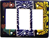 Triple Decora Marigold Talavera Switch Plate