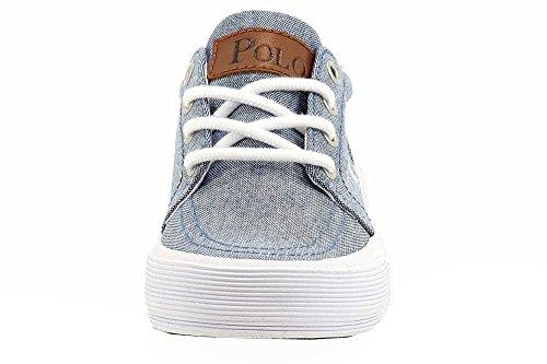 Polo Ralph Lauren Pojkar Faxon Ii Duk Mode Sneaker Skor (2 - Litet Barn, Blå)
