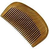 Beard Comb, Moustache Comb, Medium Tooth Comb, Handmade Green Sandalwood Hair Comb - WC073