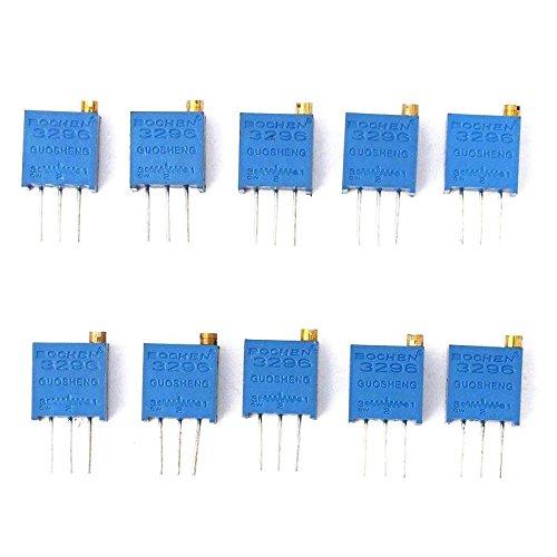 wildeal 50/pcs//Set 10/valores surtido 3296/W Recortadora Potenci/ómetro de resistencia variable Multiturn Kit
