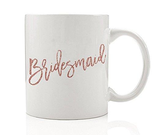 Pink Bridesmaid Mug, 11 oz Coffee Mug, Will You Be My Bridesmaid?, Bridal Party Sister Best Friend Wedding Gift DM0191