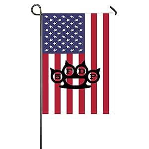 MATTHE 5FDP Five Finger Death Punch personalizado jardín bandera de Estados Unidos banda